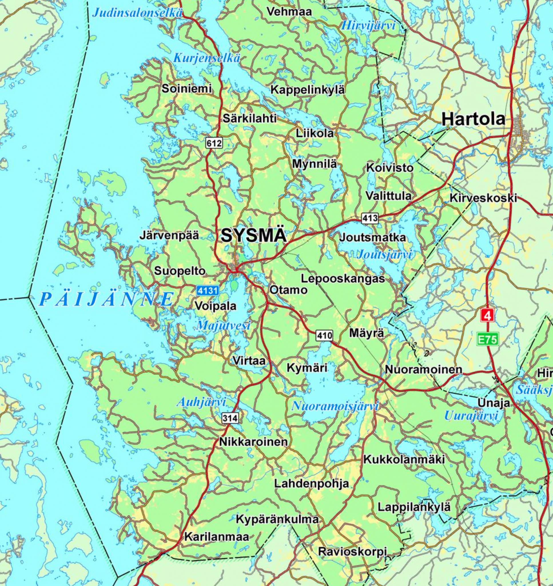 Kartta alueesta